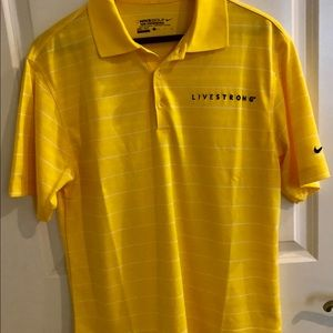 Nike Golf Dri-Fit LIVESTRONG Striped Polo